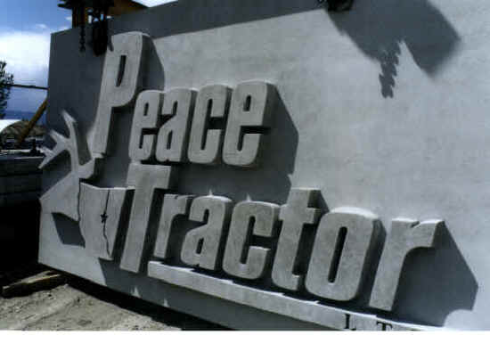 Peace Tractor Sign